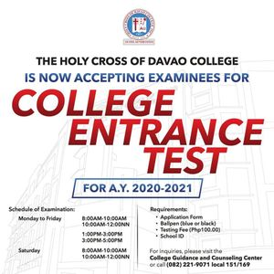 College Entrance Test now on-going!